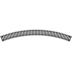 Double rail courbe R2 438mm de rayon 45° (8 voies au cercles)
