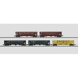 "Coffret de 5 wagons trémies ""Hopper Car"""