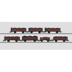Coffret de 7 wagons tombereaux à bords hauts