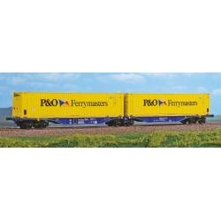 "Wagon double porte container ""P&O Ferrymasters"""" type sggmrss ""90"""