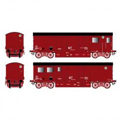 Wagon WSMI couleur rouge wagon