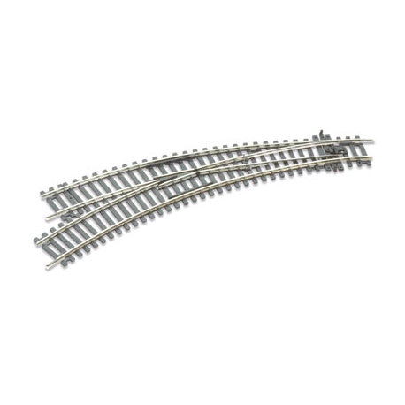 Aiguillage courbe gauche rayon 438 et 505mm, angle 11.25°, code 100