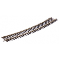 Rail courbe  22.5°, 16 au cercle, rayon 571.5mm, code 100