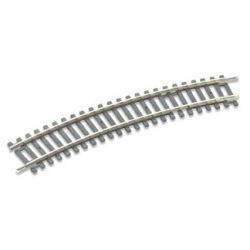Rail courbe  22.5°, 16 au cercle, rayon 438mm, code 100