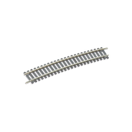 Rail courbe 11.5°, 32 au cercle, rayon 859.6mm, code 100