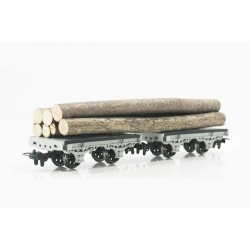 2 wagons transport de bois