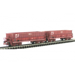 "Coffret de 2 wagons DM rouge UIC ""UNIMETAL"""
