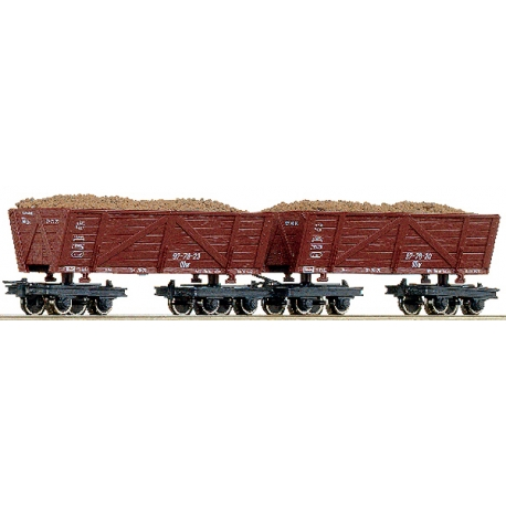 Coffret de 2 wagons tombereau
